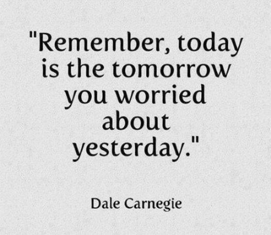 Interesting Quotes remember today is the tomorrow you warred about yesterday