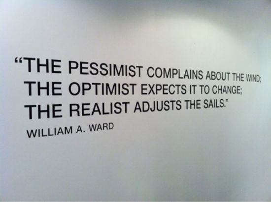 Interesting Quotes the pessimist complains about the wind