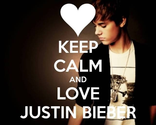 Justin Bieber Quotes keep calm and love justin bieber