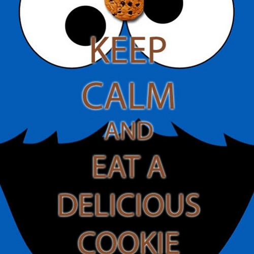 Keep calm and eat a delicious cookie Meme