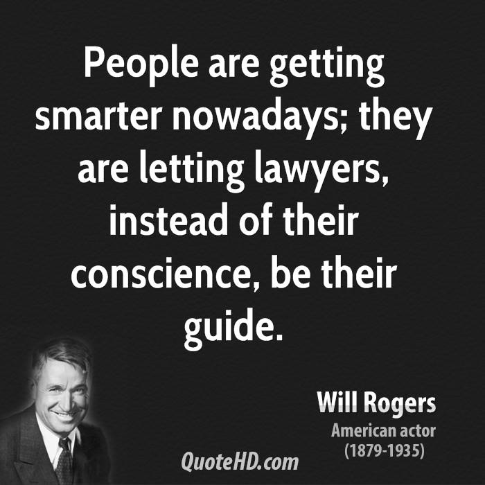 Legal Sayings people are getting smarter nowadays
