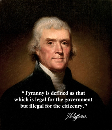 Legal Sayings tyranny is defined as that which is legal for the government