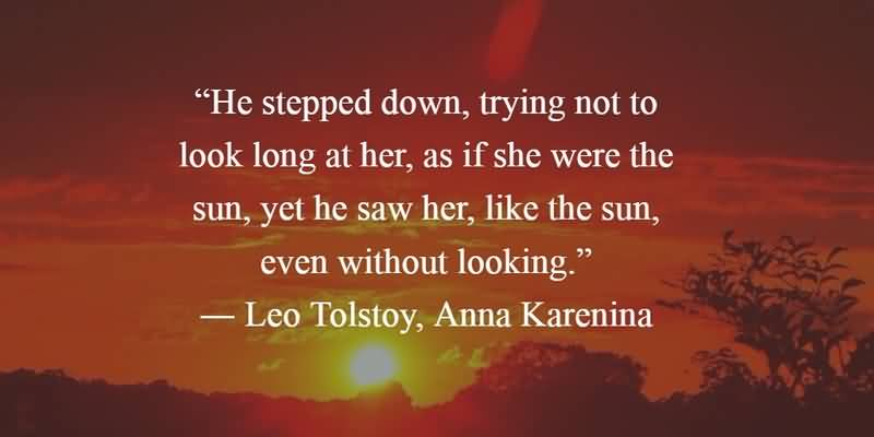 Literary Quotes he stepped down trying not to look long at her as if she were the sunn
