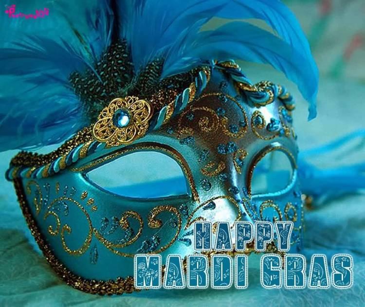 Mardi Gras Wonderful Mask Wishes Image