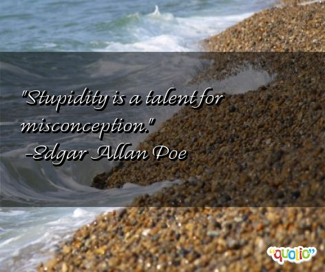 Misconception Quotes stupidity is a talent for misconception (3)