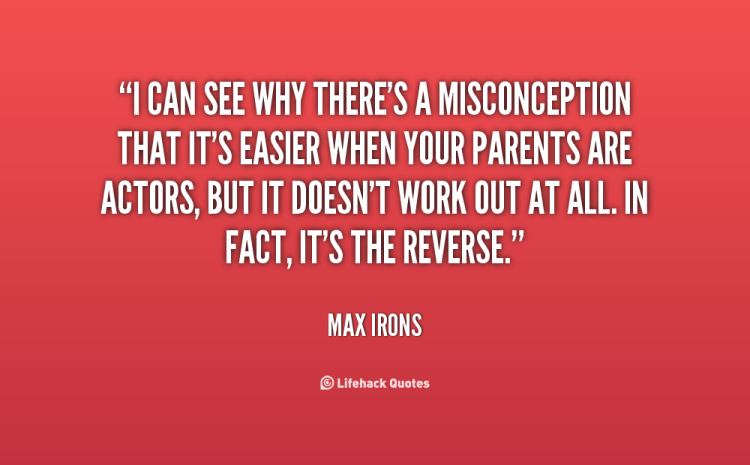 Misconception Sayings i can see why there's a misconception that it's easier when your
