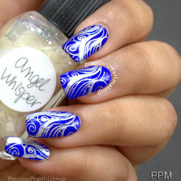 Most Beautiful Blue And Silver Nails