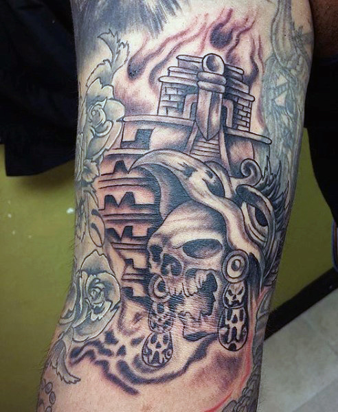 Motivational Aztec Tattoos On arm For men