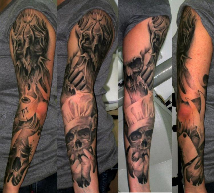Motivational Hell Tattoo on arm for men