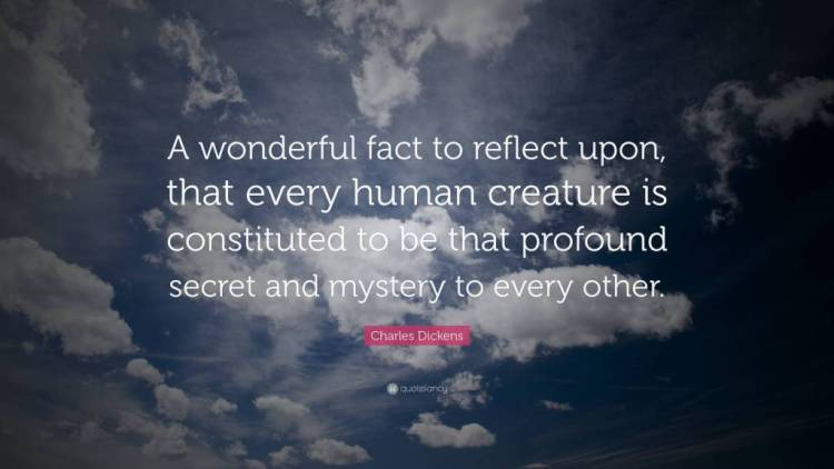 Mystery Quotes a wonderful fact to reflect upon that every human creature