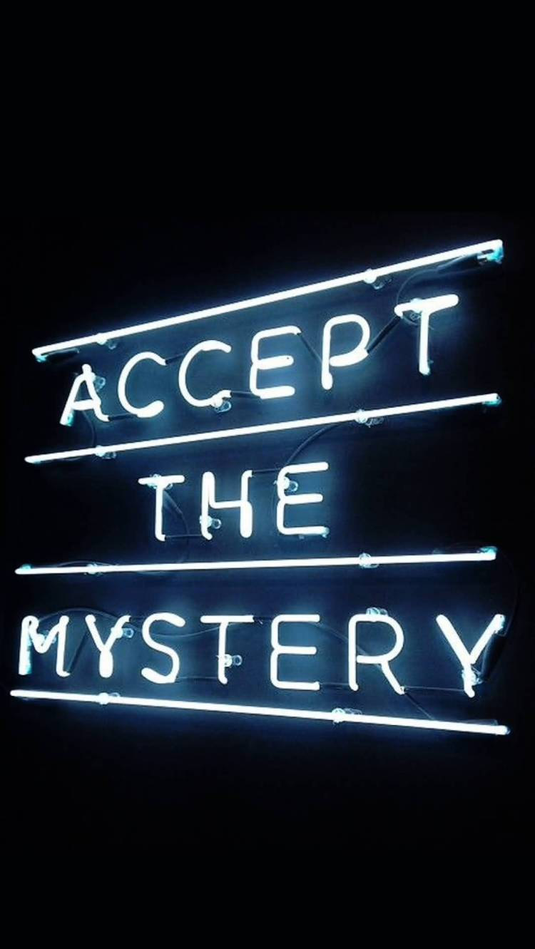 Mystery Quotes accept the mystery