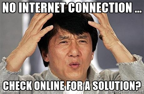 No Internet Connection Check Online For A Solution