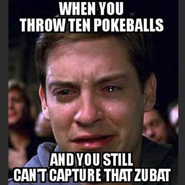 Pokemon Go Meme When You Throw Ten Pokeballs And You Still