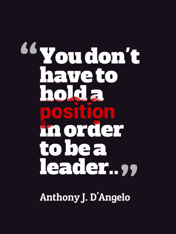 Position Sayings you don't have to hold a position