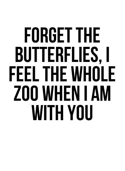 Sex sayings forget the butterflies i feel the whole zoo when i am with you