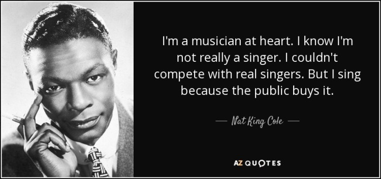 Singer Sayings I'm a musician at heart i know
