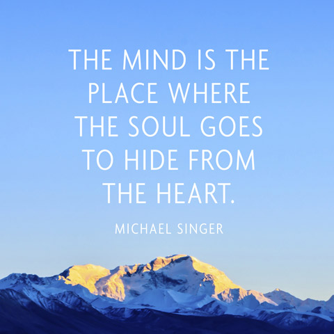 Singer Sayings the mind is the place where the soul goes to hide