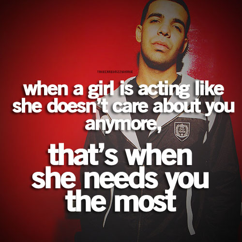 Singer Sayings when a girl is acting like