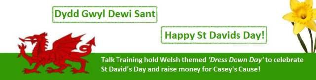 St David's Day Greetings Message Image