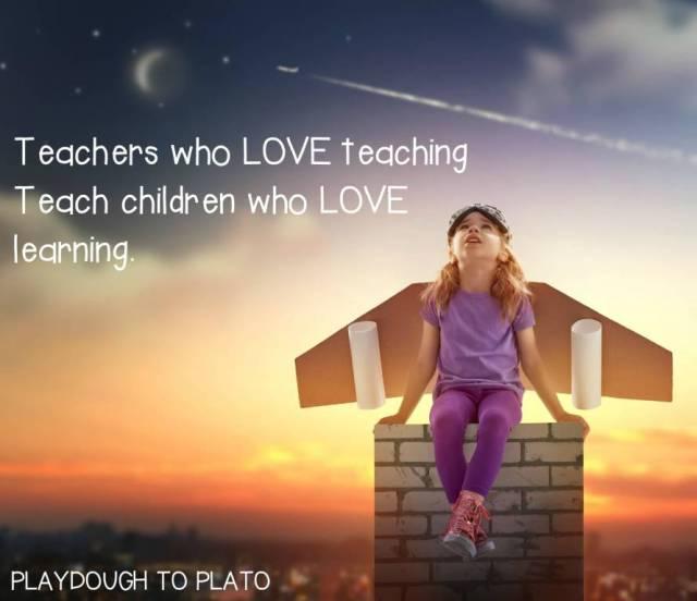 Teach Sayings teachers who love teaching teach children who love learning