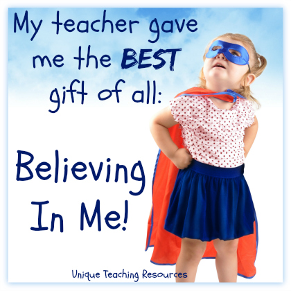 Teacher Quotes my teacher gave me the best gift of all believing in me