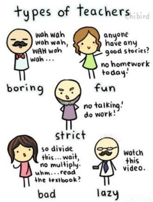 Teacher Sayings types of teachers wah wah wah wah