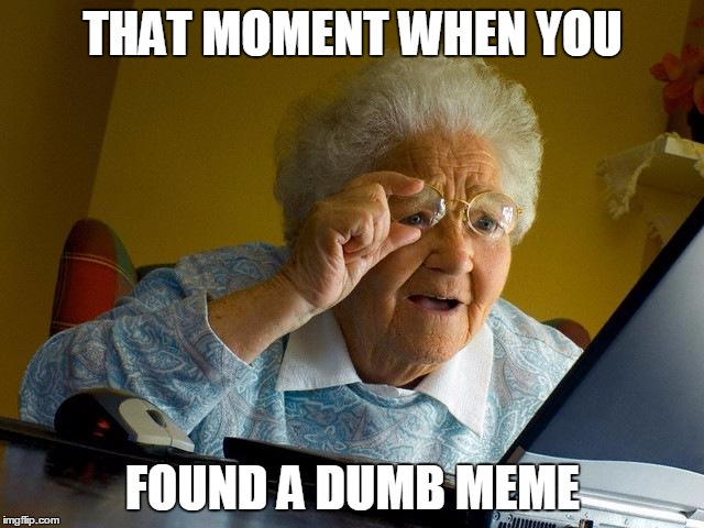 That Moment When You Found A Dumb Meme Grandma Memes