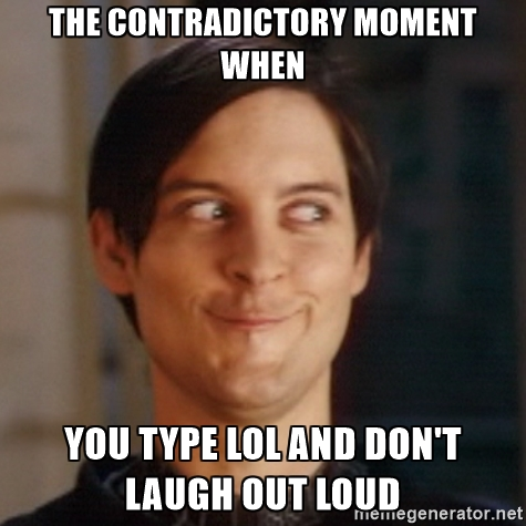 The contradictory moment when LOL Memes