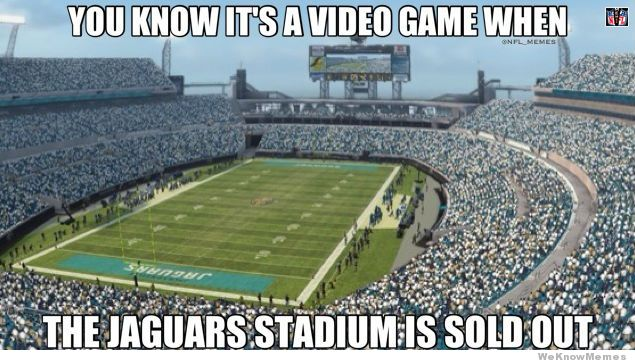 You know it's a video game when American Football Meme