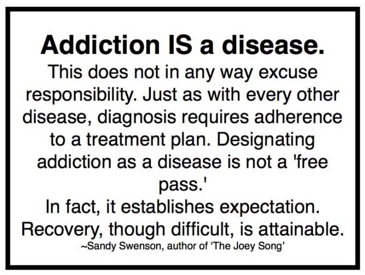 addiction Quotes addiction is a disease