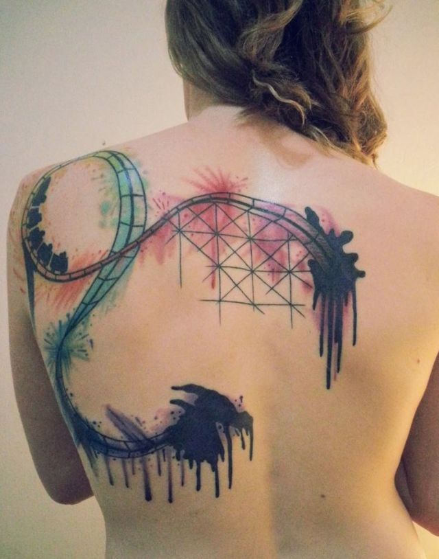 inspirational bipolar tattoos on back