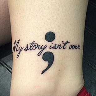 superb Illness Tattoo Design on Foot