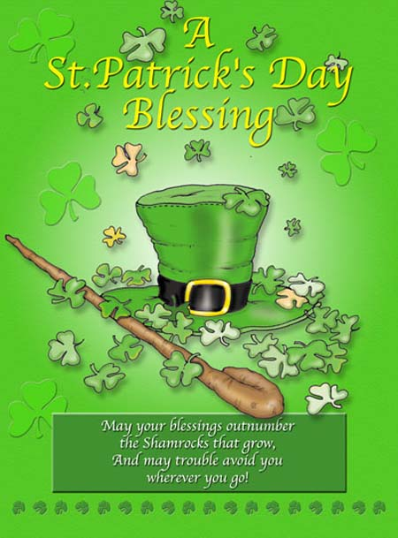 A St. Patrick's Day Blessing Wishes Message Image