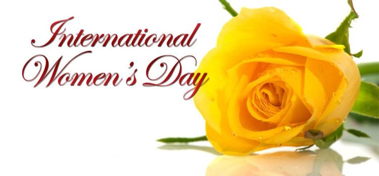 Amazing Yellow Rose Wishes Card On Happy International Women's Day