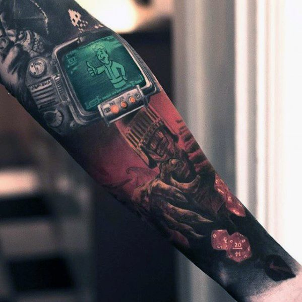 Attractive Fallout Tattoo For boy's arm