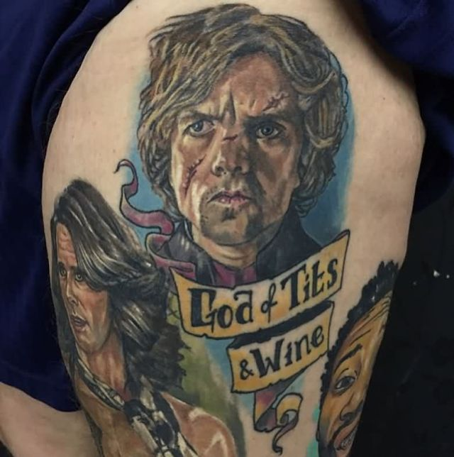 Attractive Game Of Thrones Tattoo On thigh for guy