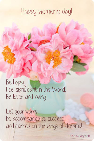 Be Loved And Loving Happy International Women's Day Wishes Card Image