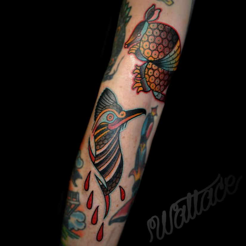 Best Ever Armadillo Tattoo On Arm For Girls