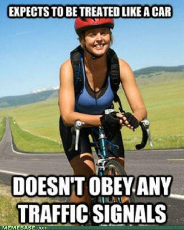 Bike Meme expects to be treated like a car