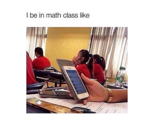 Camouflage Meme i be in math class like