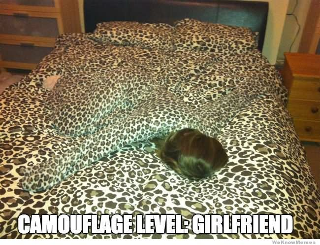 Camouflage Memes Camouflage level girlfriend