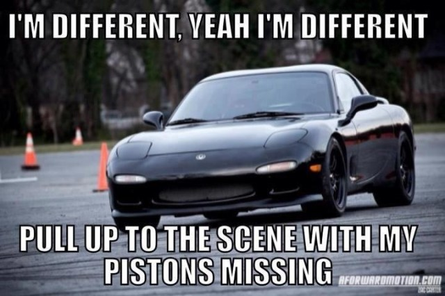 Car Memes i m different yeah I'm different pull up to the scene with