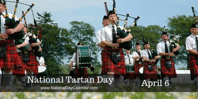 Celebrate National Tartan Day Parade Image