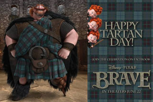 Celebration Tartan Day Cartoon Image