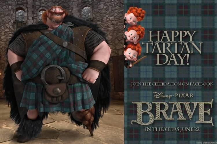 Celebration Tartan Day Cartoon Image