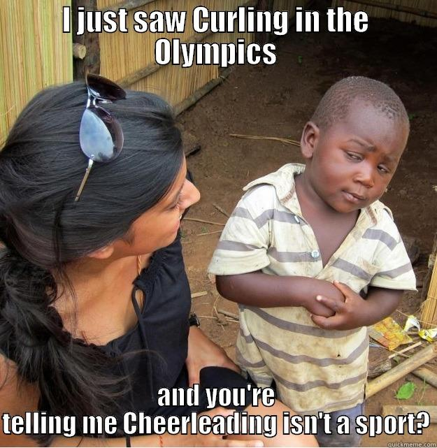 Cheerleading Meme I just saw curling in the Olympics and you 're telling
