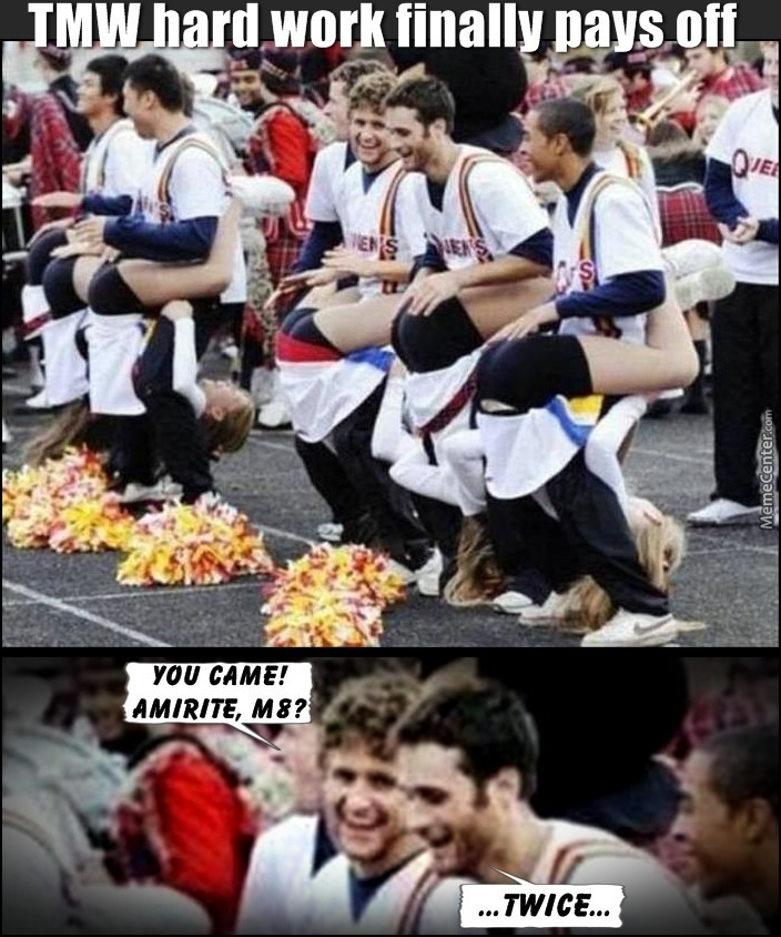 Cheerleading Memes Tmw hard work finally pays off