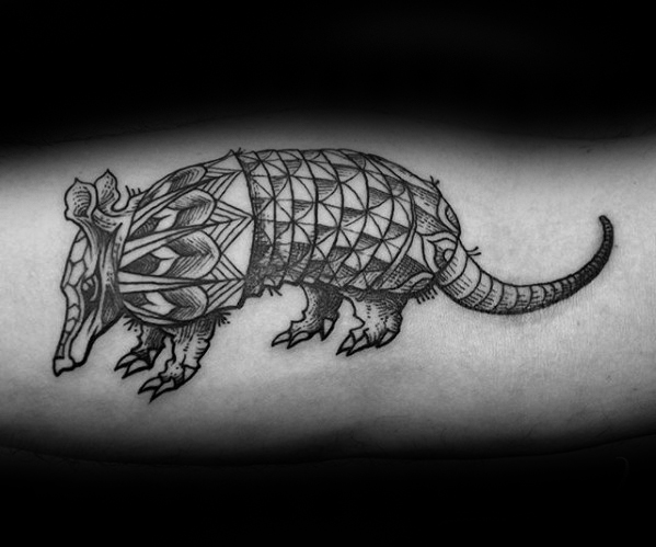 Cute Armadillo Tattoo On Arm For Tattoo Fans