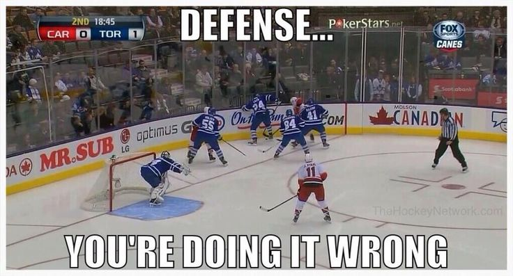 Defense you're doing it wrong Hockey Meme