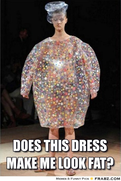Does this dress make me look fat Dress Meme